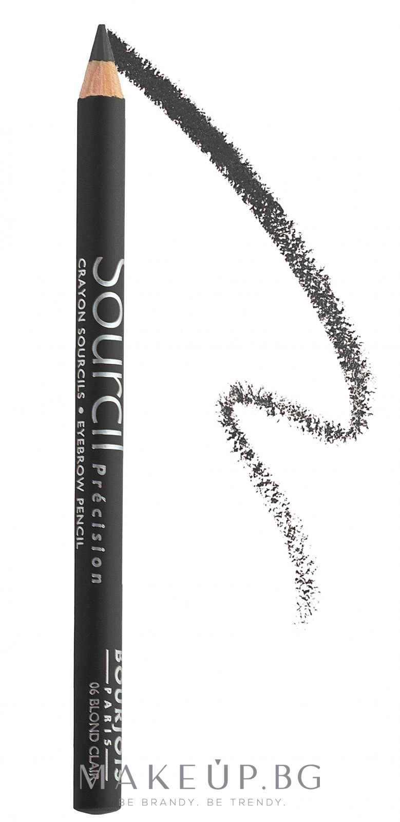 Молив за вежди - Bourjois Sourcil Precision — снимка 1 Черно дърво