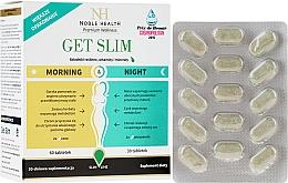 Парфюмерия и Козметика Комплекс хранителна добавка за отслабване, на таблетки- Noble Health Get Slim Morning & Night