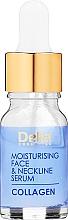 Парфюмерия и Козметика Серум за лице и шия против бръчки с овлажняваща интензивна грижа - Delia Collagen Intensive Anti-Wrinkle and Moisturising Treatment Serum