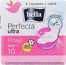 Парфюмерия и Козметика Дамски превръзки Perfecta Rose Deo Fresh Drai Ultra, 10 бр - Bella