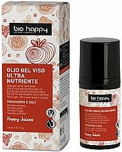 Парфюмерия и Козметика Гел-масло за лице с домат и годжи бери с UV защита за кожата - Bio Happy Face Gel Oiltomato And Goji Berry