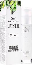 Парфюми, Парфюмерия, козметика Нощен крем за лице с изумруд - Hristina Cosmetics SM Crystal Emerald Anti-Aging Night Cream