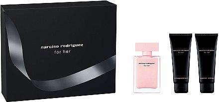 Narciso Rodriguez For Her - Комплект (edp/50ml + лос. за тяло/75ml + душ гел/75ml) — снимка N1