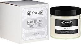 """Парфюмерия и Козметика Ароматна свещ """"Кокос"""" - Eco Life Candles"""
