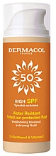 Парфюмерия и Козметика Водоустойчив, тониращ, слънцезащитен флуид - Dermacol Sun Tinted Water Resistant Fluid SPF50