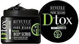 Парфюмерия и Козметика Скраб за тяло - Revuele Pure Black Detox Volcanic Body Scrub