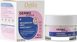 Парфюми, Парфюмерия, козметика Хипоалергенен хидратиращ крем за лице - Delia Dermo System Moisturizing Hypoallergenic Cream