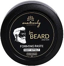 Парфюми, Парфюмерия, козметика Моделираща паста за брада и коса с матов ефект - One&Only Cosmetics For Beard&Hair Forming Paste Matt Effect