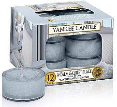 Парфюмерия и Козметика Чаени свещи - Yankee Candle Scented Tea Light Candles A Calm & Quiet Place