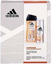 Парфюмерия и Козметика Комплект - Adidas Adipower Women (душ гел/250ml + део спрей/150ml)