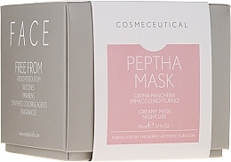Парфюмерия и Козметика Нощен крем-маска за лице и шия с екстракт от червена боровинка - Surgic Touch Peptha Mask