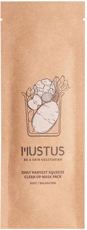 Почистваща маска за лице - Mustus Daily Harvest Squeeze Clean Up Mask — снимка N1