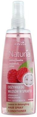 Спрей-балсам с малини и памук за лесно разресване на дългата коса - Joanna Naturia Hair Leave-in Detangling Raspberry and Ctton Hair Spray Conditioner