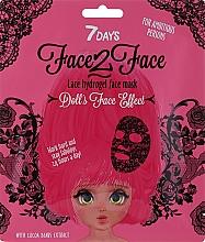 Парфюмерия и Козметика Дантелена хидрогел маска за лице с екстракт от какаови зърна - 7 Days Face2Face Lace Hydrogel Mask Cocoa Beans