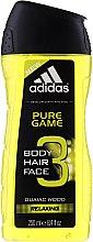 Парфюми, Парфюмерия, козметика Душ гел - Adidas Pure Game Hair & Body Shower Gel