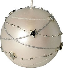 Парфюмерия и Козметика Декоративна свещ, бяла, 10 x 10 cm - Artman Christmas Garland