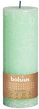 Парфюмерия и Козметика Цилиндрична свещ, зелена, 190х68 мм - Bolsius