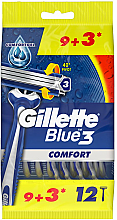 Парфюмерия и Козметика Комплект самобръсначки, 12 бр - Gillette Blue 3 Comfort