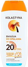 Парфюмерия и Козметика Водоустойчива слънцезащитна емулсия - Kolastyna Suncare Emulsion SPF20