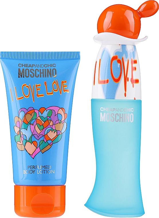 Moschino I Love Love - Комплект (тоал. вода/30ml + лосион за тяло/50ml) — снимка N2