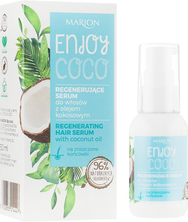 Регенериращ серум за коса с кокосово масло - Marion Enjoy Coco Serum