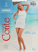 Парфюмерия и Козметика Дамски чорапогащник «Summer» 8 Den, natural - Conte