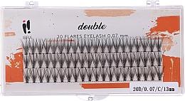 Парфюмерия и Козметика Мигли на снопчета, С 13 mm - Ibra 20 Flares Eyelash Knot-fre Naturals