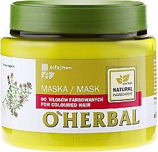 Парфюмерия и Козметика Маска за боядисана коса - O'Herbal