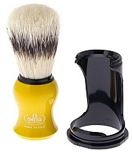 Парфюмерия и Козметика Четка за бръснене с поставка 80265 жълта - Omega