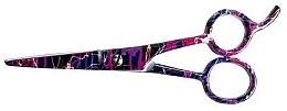 Парфюмерия и Козметика Фризьорска ножица, 5.5см - Ronney Professional Pink Neon