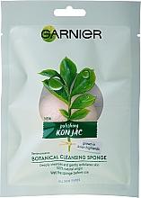 Парфюмерия и Козметика Органична конджак гъба за измиване - Garnier Bio Polishing Konjac Botanical Cleansing Sponge