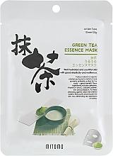 Парфюмерия и Козметика Памучна маска за лице с екстракт от зелен чай - Mitomo Green Tea Essence Mask