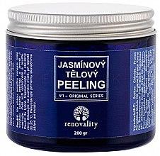 Парфюмерия и Козметика Финозърнест солен пилинг за тяло с жасмин - Renovality Original Series Jasmine Body Peeling