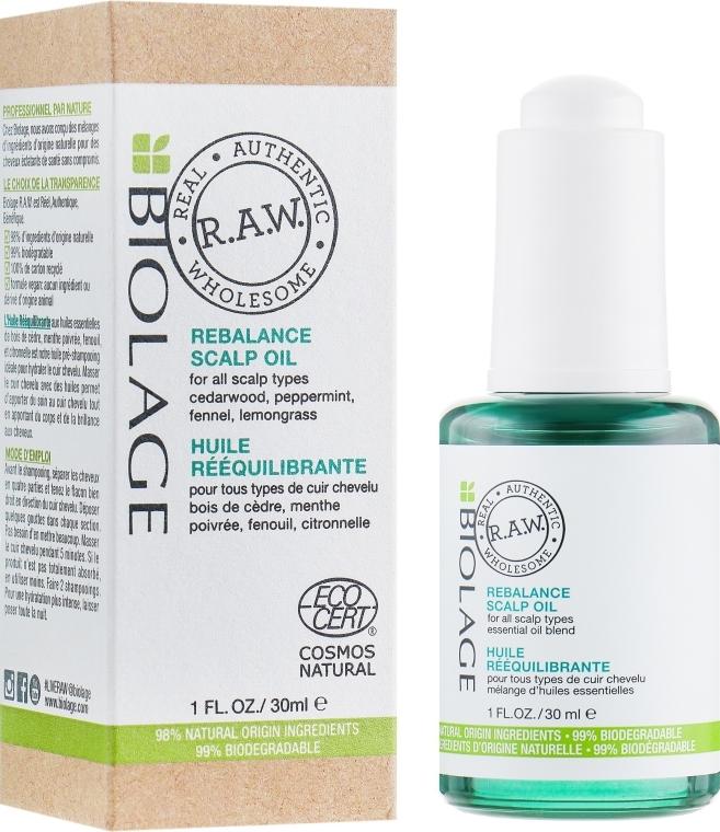 Ребалансиращо масло за скалп - Biolage R.A.W. Scalp Care Rebalance Scalp Oil — снимка N1