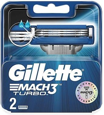 Сменяеми ножчета за бръснене, 2 бр - Gillette Mach3 Turbo — снимка N1