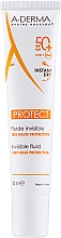Парфюмерия и Козметика Слънцезащитен флуид SPF 50+ - A-Derma Protect Invisible Fluid Very High Protection