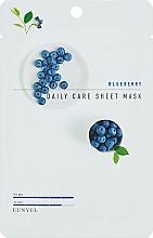 Парфюмерия и Козметика Памучна маска против бръчки с боровинка - Eunyul Daily Care Mask Sheet Blueberry