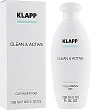 Парфюмерия и Козметика Почистващ гел за лице - Klapp Clean & Active Cleansing Gel