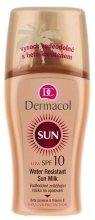 Парфюми, Парфюмерия, козметика Водоустойчиво омекотяващо слънцезащитно мляко - Dermacol Sun Milk SPF 10