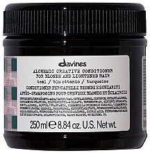 Парфюмерия и Козметика Балсам за естествено светла и боядисана коса (тюркоаз) - Davines Alchemic Conditioner Teal