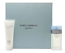Парфюмерия и Козметика Dolce & Gabbana Light Blue - Комплект (тоал. вода/100ml + крем за тяло/100ml)