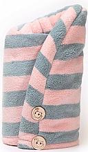 Парфюмерия и Козметика Микрофибърна кърпа за коса, Pink + Grey - Trust My Sister