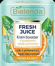 Парфюми, Парфюмерия, козметика Овлажняващ крем-подобрител с биоактивна цитрусова вода - Bielenda Fresh Juice Booster