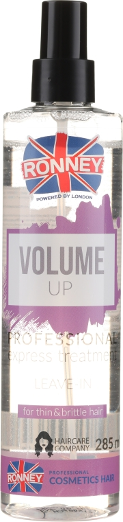 Спрей за обем на слаба и тънка коса - Ronney Volume Up Professional Express Treatment Leave-In