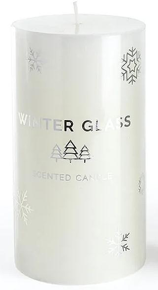 Ароматна свещ, бяла, 9х13см - Artman Winter Glass — снимка N1