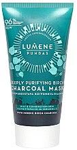 Парфюмерия и Козметика Дълбоко почистваща маска за лице с брезов въглен - Lumene Puhdas Deeply Purifying Birch Charcoal Mask