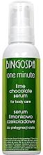 Парфюмерия и Козметика Серум за тяло с шоколад и лайм за след слънчеви бани - BingoSpa Serum Chocolate-Lime