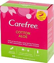 Парфюмерия и Козметика Ежедневни дамски превръзки с екстракт от алое, 56 бр - Carefree Cotton Aloe