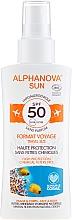 Парфюмерия и Козметика Слънцезащитен спрей - Alphanova Sun Bio SPF50 Spray Voyage