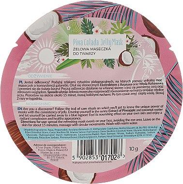 "Маска за лице ""Пина Колада"" - Marion Tropical Island Pina Colada Jelly Mask — снимка N2"